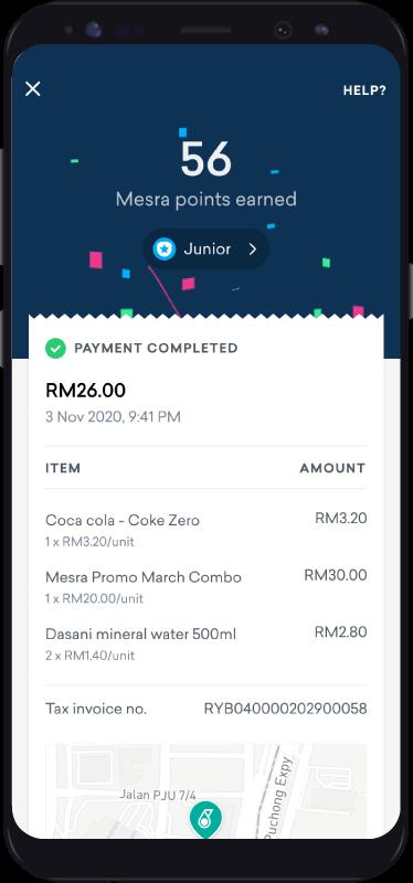 Pay At Kedai Mesra Step 2