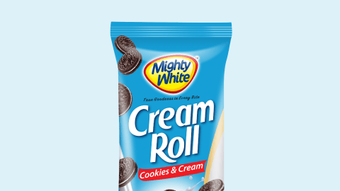 Mighty White Cream Roll Cookies & Cream