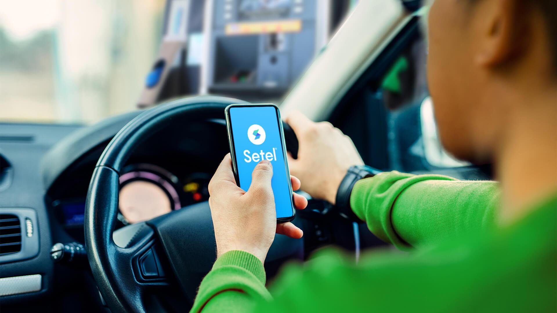 Man Phone In Car Grab