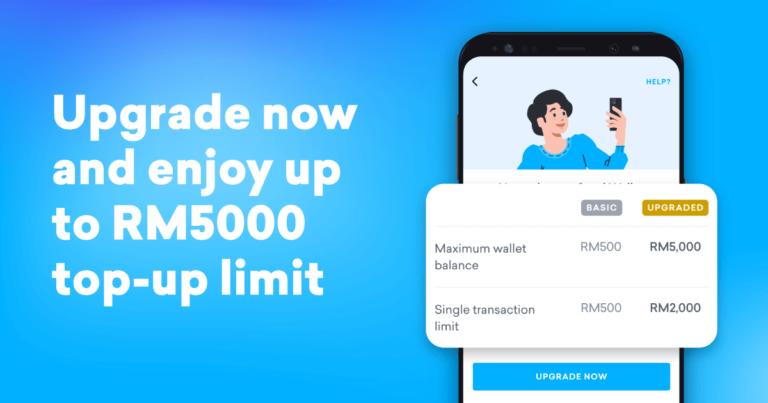 Promotion image of 'Upgrade Setel Wallet Limit'