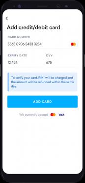 Add Credit Debit Card